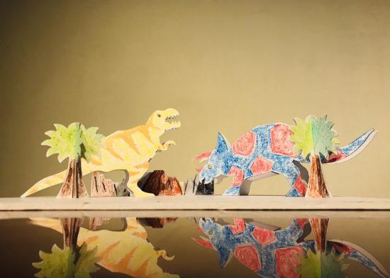 新作発表第二弾「ダンボール恐竜」(ジオラマ)